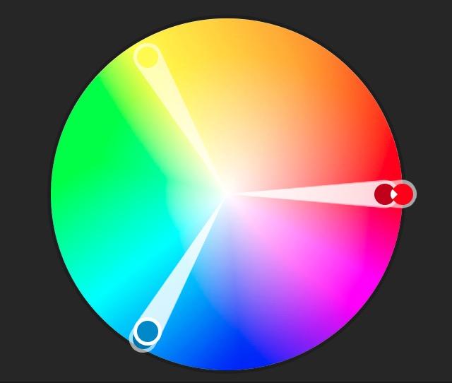 Complémentarité des couleurs : le bleu, le jaune et le rouge s'allient à merveillle