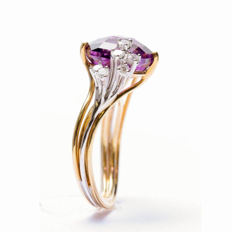 Bague Améthyste et diamants