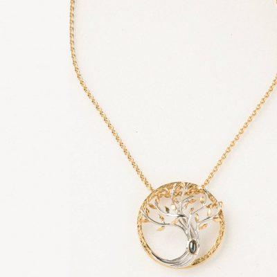 Collier pendentif « arbre de vie »