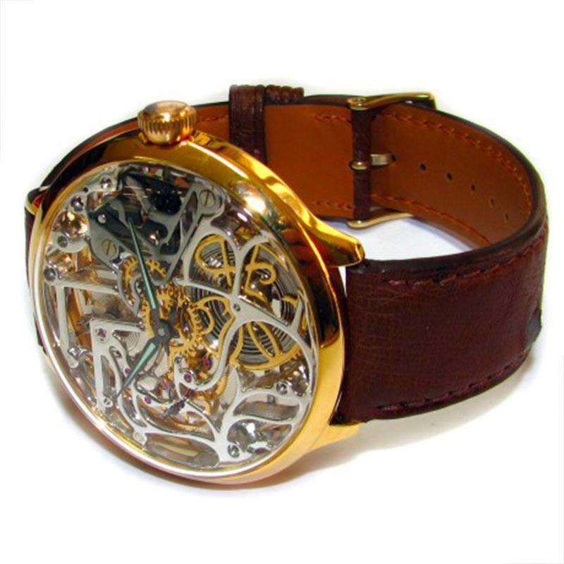 Une montre squelette de poignet réalisée sur mesure par la Maison Bianchi