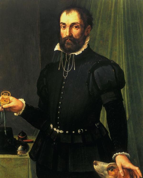 Montres et art : Portrait réalisé par Maso de San Friano (circa 1560)