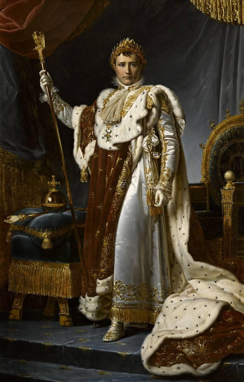 Napoléon Bonaparte lors de son sacre, peinture de François Gérard. Apercevez-vous le diamant serti sur son épée ?