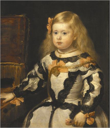 Margarita Teresa, fille de Philippe IV d'Espagne, est la première propriétaire royale du diamant Wittelsbach | Portrait, Musée du Louvre