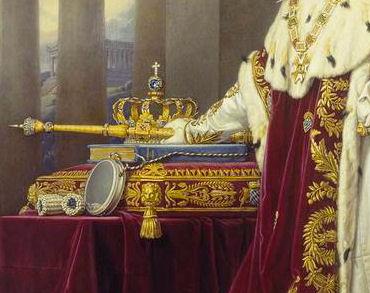 Le diamant Wittelsbach sertit la couronne des rois de Bavière, on peut l'apercevoir sous la croix